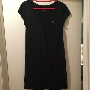 Lacoste black cotton short sleeve dress